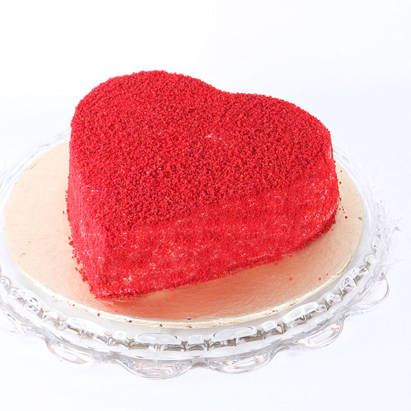 Heart Shaped Red Velvet Cake 2LBS - TCS Sentiments Express
