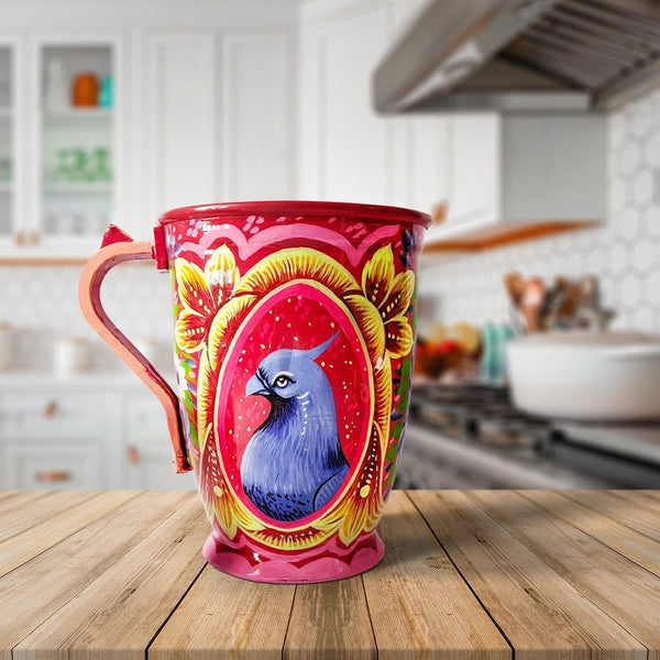 Hand Painted Red Jug