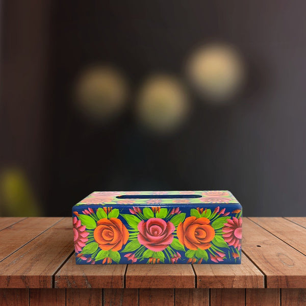 Tissue Box Hand painted