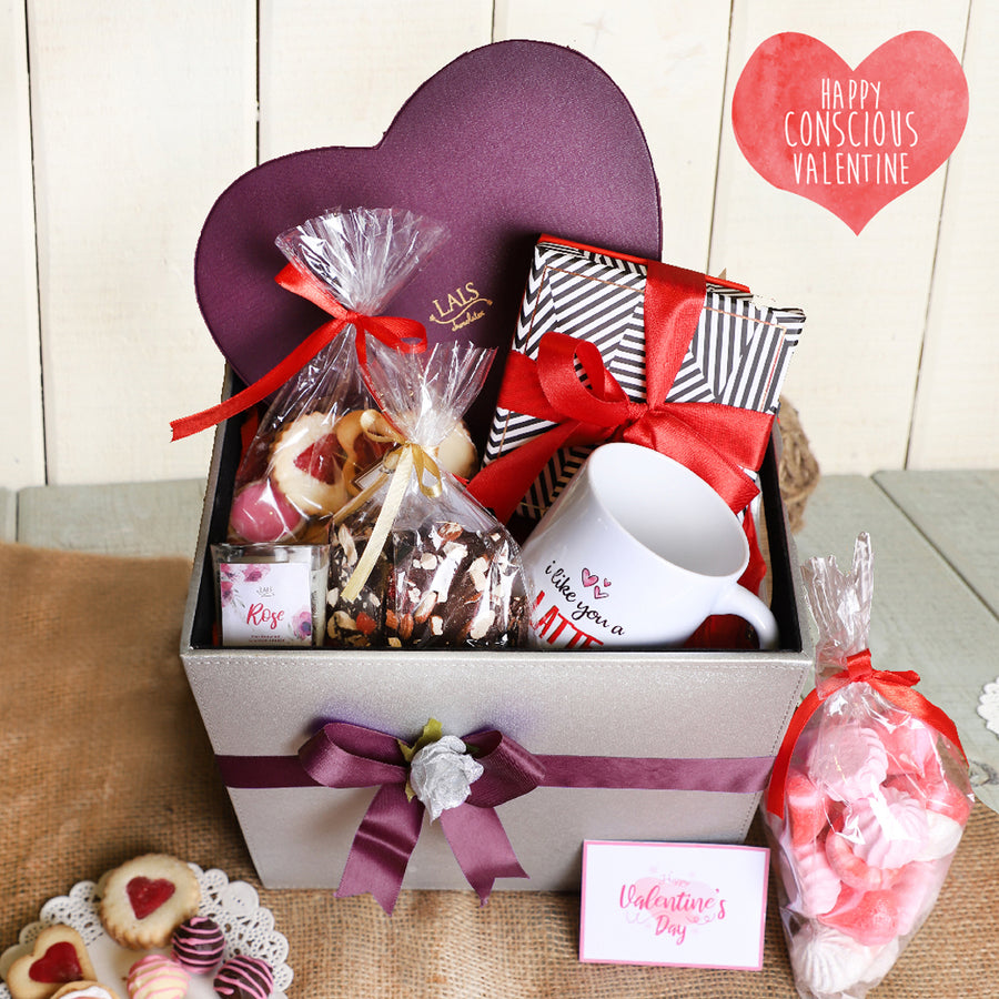 Celebration Of Love Leather Hamper By Lals - TCS Sentiments Express