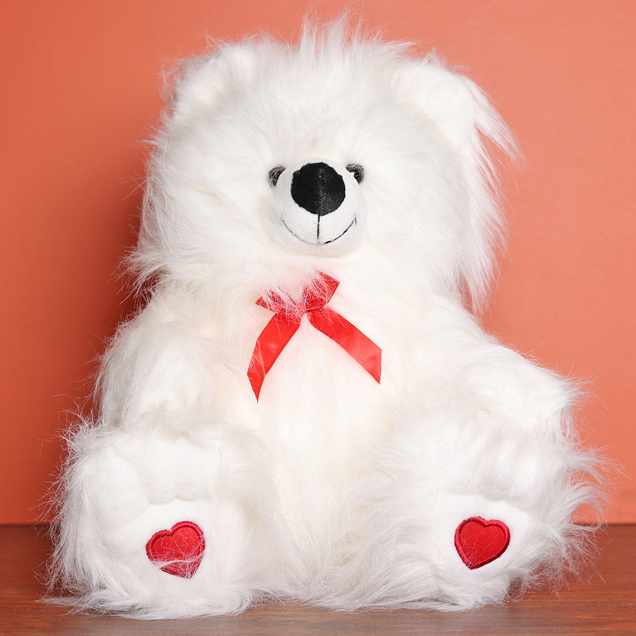White Bear with Bow (20 Inch) - TCS Sentiments Express
