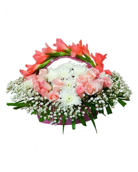 Baby Girl Flower Basket - TCS Sentiments Express
