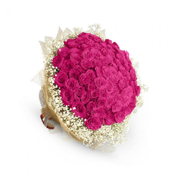 Pink Beauty Bouquet (80 imported Pink) - TCS Sentiments Express