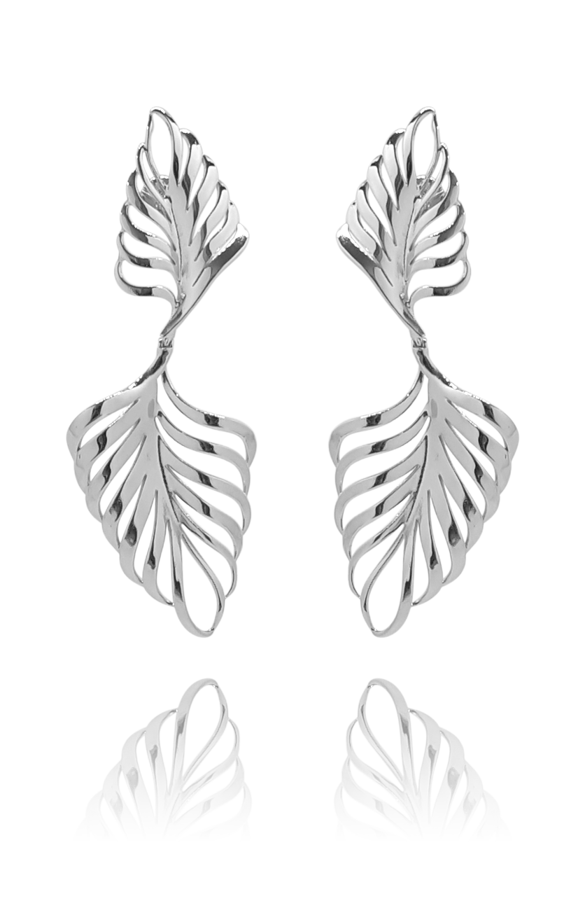 earring_palmeira_palm tree_silver_white_gold_18kts jewelry |Elba