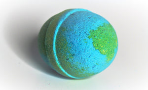 large colorful earth ocean scent natural bath bomb