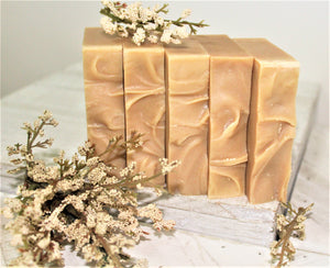 Natural Honey Oat Soap Bar | Over Soaped Bath & Body Boutique