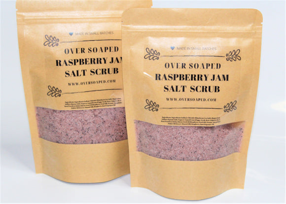 Raspberry Jam Salt Scrub