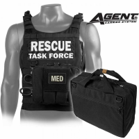 Rescue Task Force AGENT Rapid Deployment Armor Vest w/Soft Armor and Med Kit