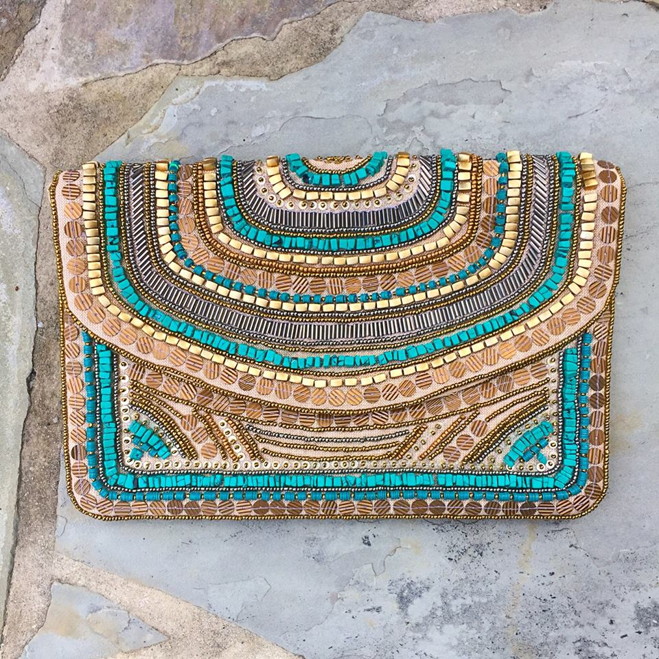 """Neela""beaded clutch - India"