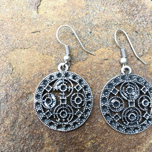 """Erva"" small silver earrings - Turkey"