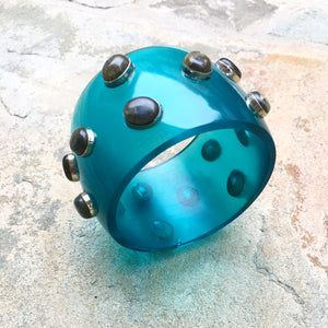 """Anu"" deep-blue ocean chunky bangle - India"