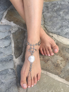 """Batool"" silver anklet - Turkey"