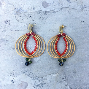 """Eloa"" gold grass earrings - Brazil"