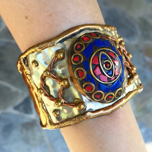 """Sahana"" blue eye Wonder Woman bracelet - India"