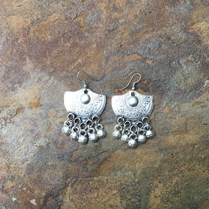 """Eslem"" jingle silver earrings - Turkey"