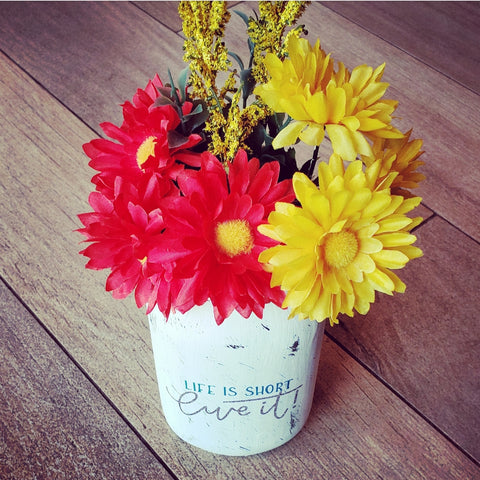 Mason Jar Vase - Milano Crafts