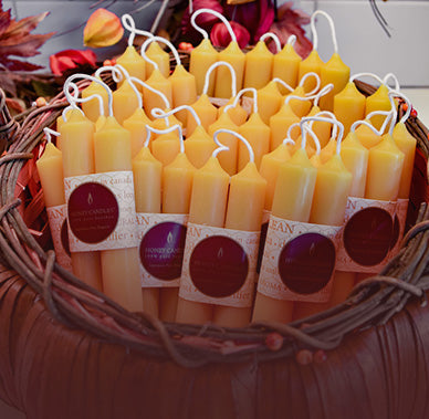 Beeswax candles to brighten longer autumn nights