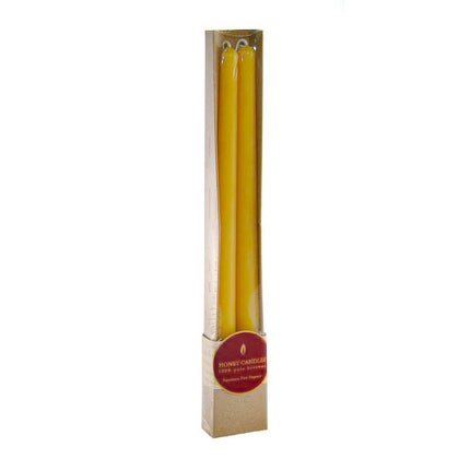 a pair of elegant dinner beeswax candles in cute gift box