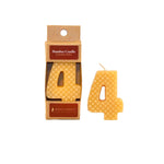 Number 4 Beeswax Candle