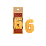 Number 6 Beeswax Candle