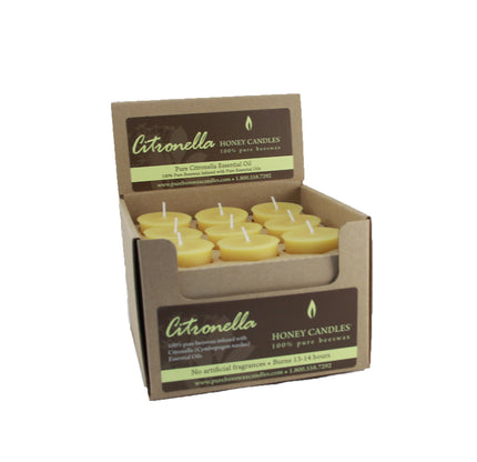 Seasonally Unavailable - Essential Votive Citronella Beeswax Candle
