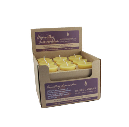 Essential Votive Country Lavender Beeswax Candle