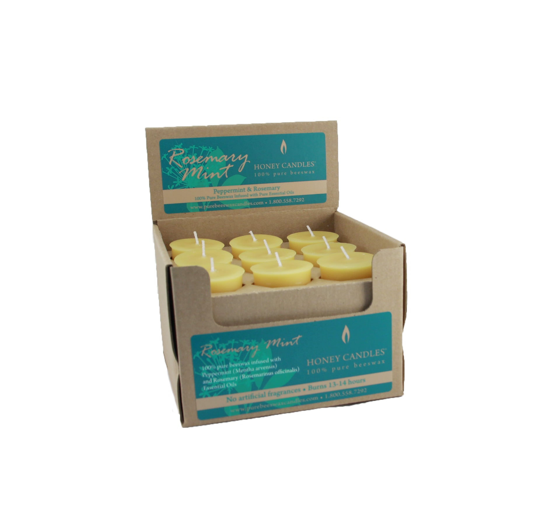 Essential Votive Rosemary Mint Beeswax Candle