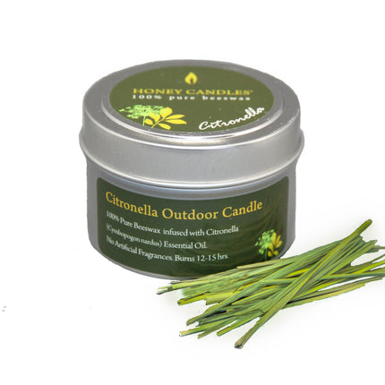 Seasonally Unavailable - Citronella Essential Oil Tin Beeswax Candle