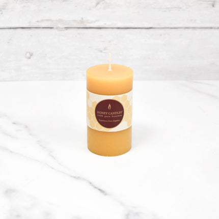 Small Round Pillar Beeswax Candle