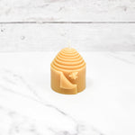 Peek-a-Bee Pillar Beeswax Candle