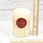 Pearl Heritage Drip Pillar Beeswax Candles
