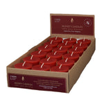 18 Red votive candles in a case