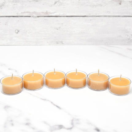 Natural Tealight in Clear Cup Bonus Pack Beeswax Candles
