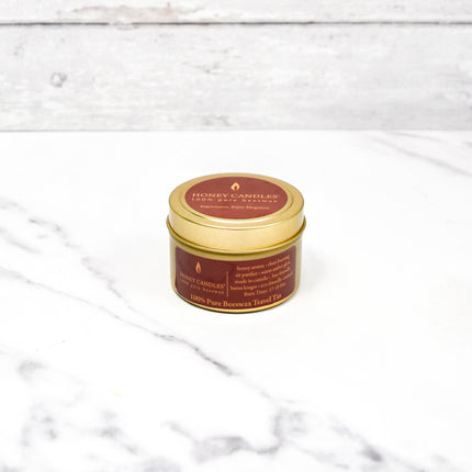 Gold Travel Tin Natural Beeswax Candle
