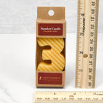 Number 3 Beeswax Candle