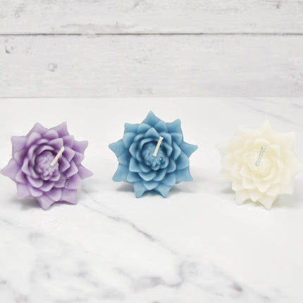 Floating Lotus Blossoms Tranquil Beeswax Candles