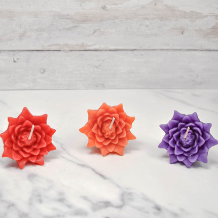 Floating Lotus Blossoms Vibrant Beeswax Candles