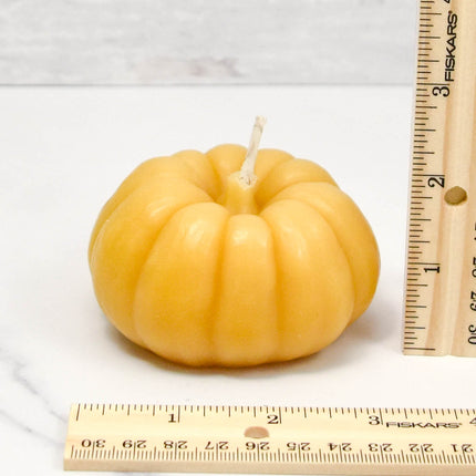 Large Pumpkin Beeswax Candle