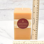 Natural Square Pillar Beeswax Candles