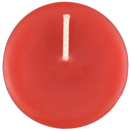 Red beeswax votive candle
