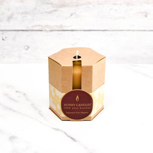 pack of 20 natural  beeswax birthday candles in recyclable packaging