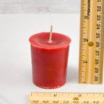 2 Inch Red Votive Beeswax Candles