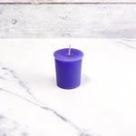 2 Inch Violet Votive Beeswax Candles