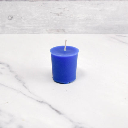 2 Inch Blue Votive Beeswax Candles