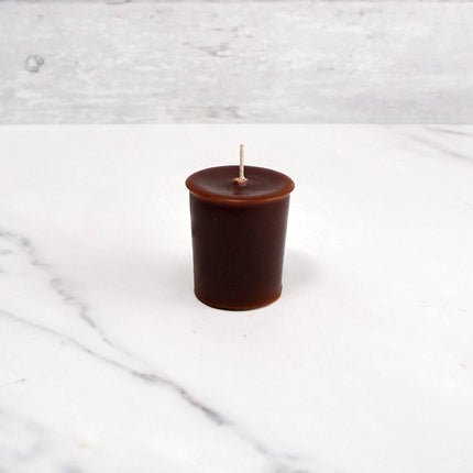 2 Inch Dark Brown Votive Beeswax Candles