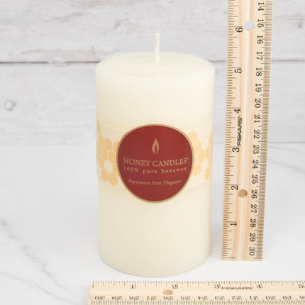 Pearl Round Pillar Beeswax Candles