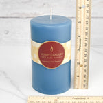 Glacier Teal Round Pillar Beeswax Candles