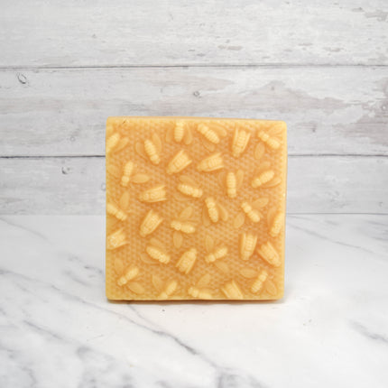 Bees on Honeycomb 1 lb Beeswax Block