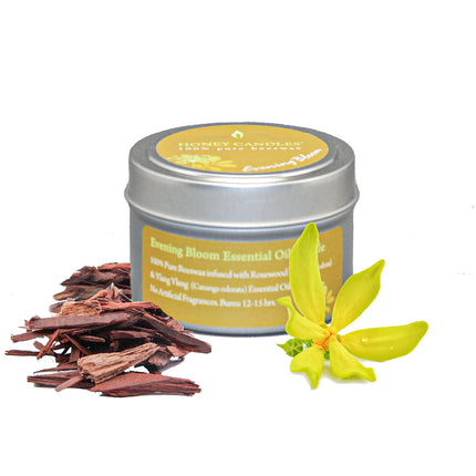 Evening Bloom Essential Oil Tin Beeswax Candle