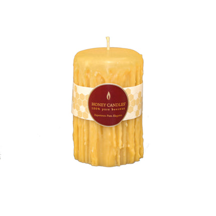 5 inch bees wax heritage candle in natural colour